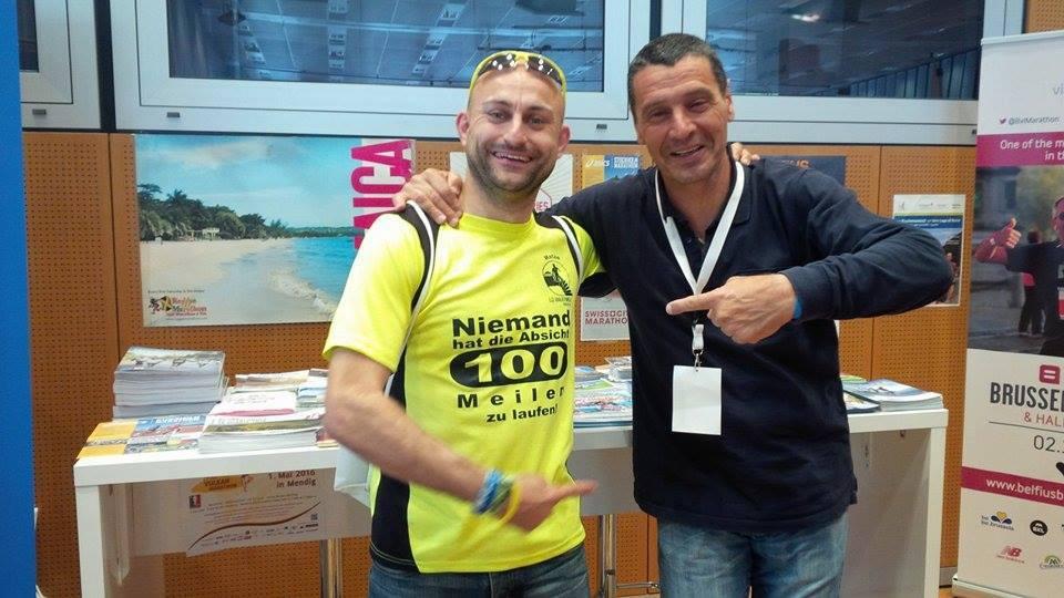 Matze Weiser mit 100Meilen-Botschafter Mauro Firmani aus Italien