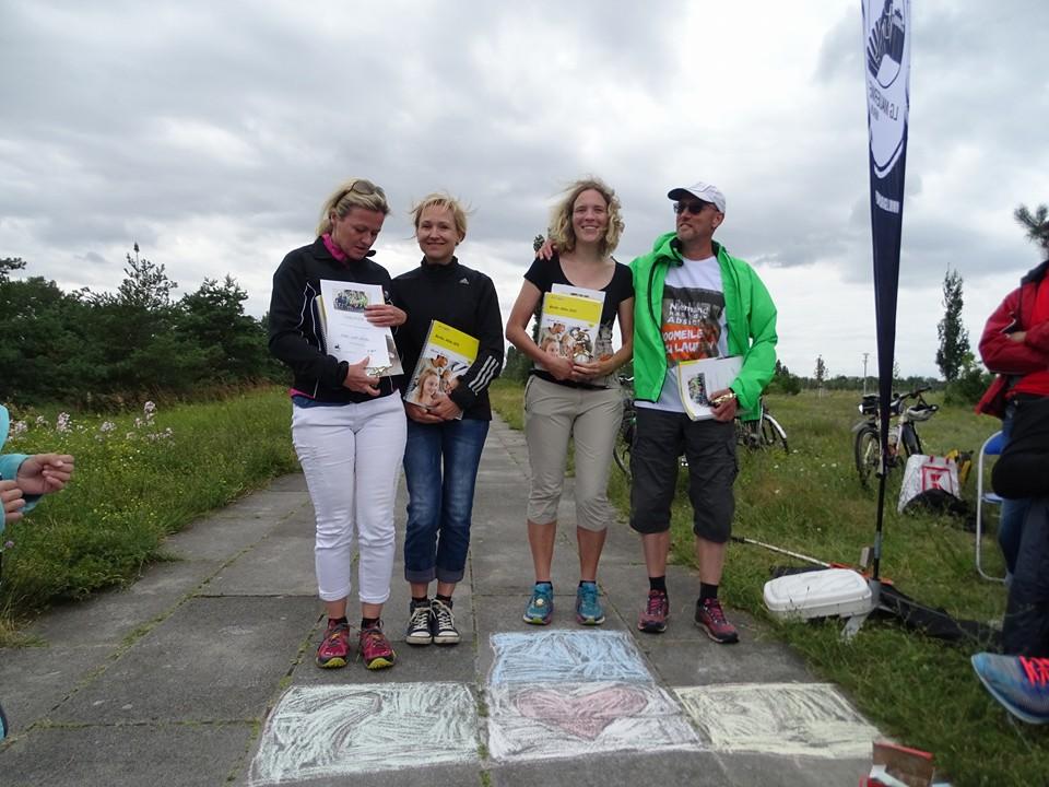 Unsere Vereinsmeister(innen) 2016: Ulrike Badewitz im Team mit Heike, Sonja Schmitt und Andreas Pfeiffer (v.l.n.r.)