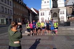 Aufstellung der 1. Startgruppe zur letzten Etappe.