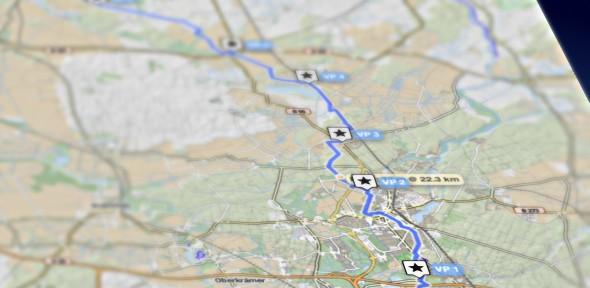 Insgesamt sechs Verpflegungsstationen gibt es auf der ersten Etappe. (Grafik: J. Levermann)