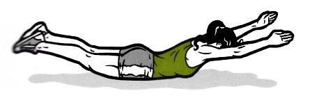 Supermann: Achte auf auf deine Bauchspannung!